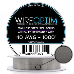 Ss 316l 40 Awg Stainless Steel Wire 316l 0 0799mm 1000