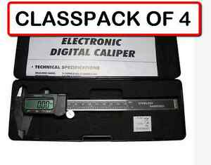pack Of 4 6 3 in 1 Electronic Digital Caliper With Large Lcd Display