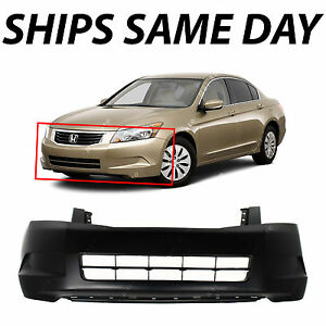 New Primered Front Bumper Cover For 2008 2009 2010 Honda Accord Sedan 08 10