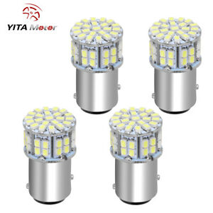 4 X White 1157 Bay15d 50 Smd Led Back Up Rerverse Led Lights 6000k 1152 12v