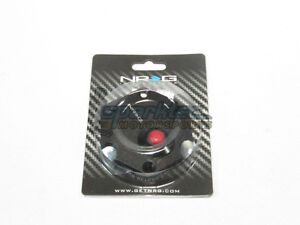 Nrg Aluminum Steering Wheel Hexagonal Horn Button Cover Plate Black W Red Button