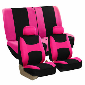 Pink Car Seat Covers Pink Full Set For Auto Suv Van W 2headrests