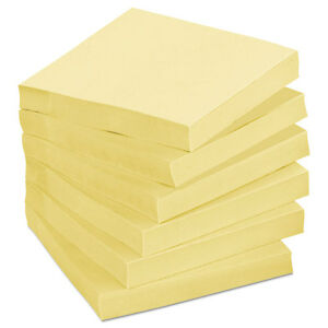 Post it Original Note Pad Yellow 1 5 X 2 6 Ct 3 Pack