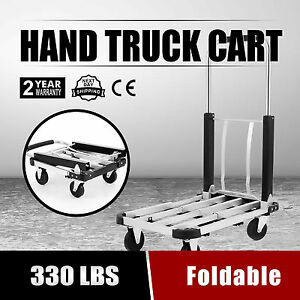 Aluminum Foldable Platform Hand Truck Cart Heavy Duty Folding 330lb Portable