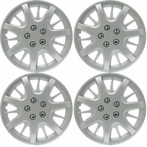 4pc Fits Chevy Impala Steel Wheel Snap On Silver 16 Hub Caps 5 Spoke Skin Cover