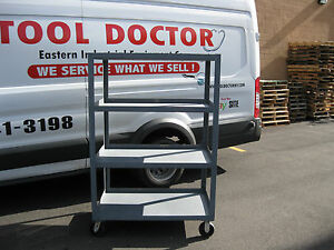 Mobile Supply Station 4 shelf Metal Rolling Cart New