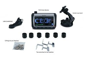 Tire Pressure Temperature Monitoring System 6 Antitheft Sensors tpms6