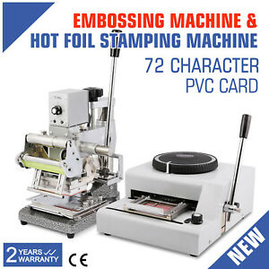 72 Character Embossing Machine Hot Foil Stamping Printing Credit Card Embosser