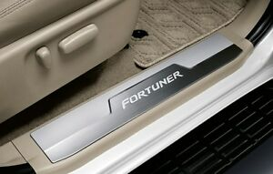 Genuine Toyota Accessory Scuff Plate Stainless Steel Logo Fortuner 2011 2015
