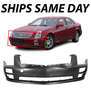 New Primered Front Bumper Cover Fascia Replacement For 2005 2007 Cadillac Sts