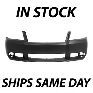 New Primered Front Bumper Cover Replacement For 2008 2010 Dodge Avenger W Fog