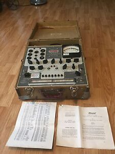 Stark Model 9 66 Military Surplus Dynamic Mutual Conductance Tube Tester