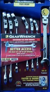 Gearwrench789504 7 Piece Metric Ratcheting Flex Head Wrench Set 10 18 Mm