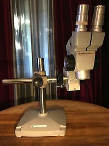 American Optical Spencer Stereo Microscope W Eyepieces Mount Stand Base