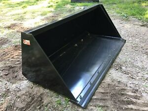 New Hd 84 Skid Steer tractor Snow mulch 7 Bucket With Detachable Cutting Edge