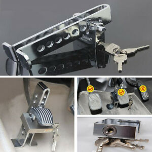 Anti Theft Device Clutch Tool Car Brake Stainless Safety Accelerator Pedal Lock
