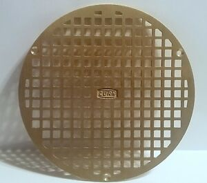 Zurn 8 Dia Round Floor Drain Replacement Cover Brass New In Bag