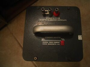 General Radio Company Type 1482 m 200 Mh 0 1 Standard Inductor