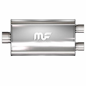 Magnaflow 12587 Muffler Stainless Steel Single 3 5 Inch Inlet X Dual 2 5 Outlet