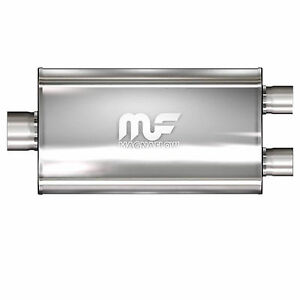 Magnaflow 12580 Muffler Stainless Steel Single 2 5 Inch Inlet X Dual 2 25 Outlet