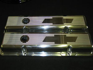 New Budget Builder Series Ghost Bow Tie Chevy Sb Stock Height Valve Covers 350