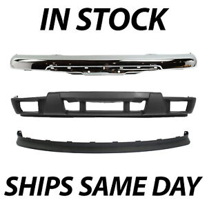 New Chrome Steel Front Bumper Valance Kit For 2004 2012 Chevy Colorado Truck