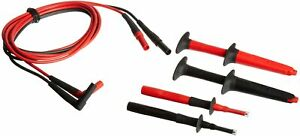 Fluke Tl223 1 Suregrip Electrical Test Lead Set With Suregrip Insulated Test Pro