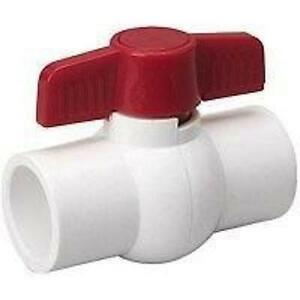 1 2 Inch Ball Valve Schedule 40 Pvc Inline Solvent Slip Pack Of 25
