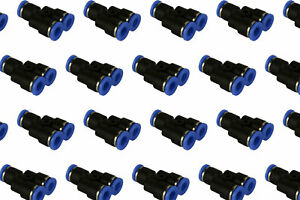 50 Piece Pneumatic Air Quick Push To Connect Fitting 1 4 Od y Split Tube 6mm
