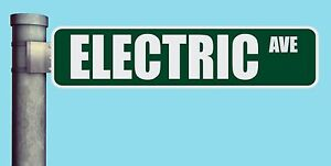 Electric Ave Street Sign Avenue Heavy Duty Aluminum Road Sign 17 X 4