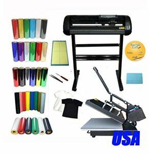 Heat Press Vinyl Cutter Plotter Software Vinyl Diy T shirt By Vinyl Start up Kit