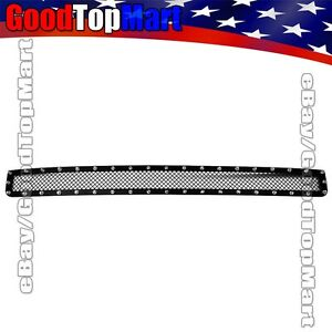 For Toyota Tacoma 2005 2011 Black Mesh Rivets Lower Bumper Grille Bolt on 1pc