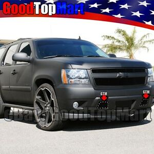 For Chevy Tahoe 2007 2014 Tow Hook Bumper Black Mesh Rivet Bolt On G