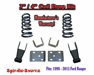 1998 2015 Ford Ranger 4 Cylinder Ext Cab 2wd 3 4 Drop Lowering Kit Coils