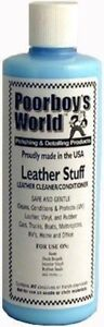 Poorboys World Leather Stuff Car Seat Upholstery Cleaner Conditioner 16oz