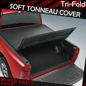 Lock Tri Fold Soft Tonneau Cover For 1994 2004 Chevrolet S10 6ft Truck Bed Cover
