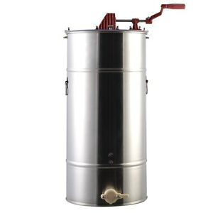 Large 2 Frame Honey Extractor Stainless Steel Beekeeping Equipment New