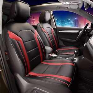 Deluxe Leatherette Air Mesh With Non Slip Backing Car Cushion Pad Front Red