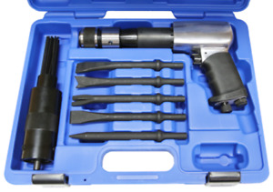 5pc Air Hammer Chisel Scaler Set With Air Gun T E Tools 8298