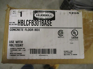 Hubbell Concrete Floor Box New