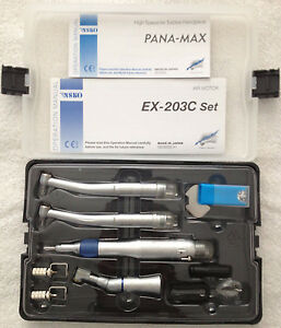 Dental Low High Speed Oral Kit ex203c 2 Pana Max 2h Wrench Type Handpieces
