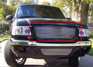 2001 2003 Ford Ranger Xl Xlt 2wd Polished Front Upper Billet Grille Aluminum New