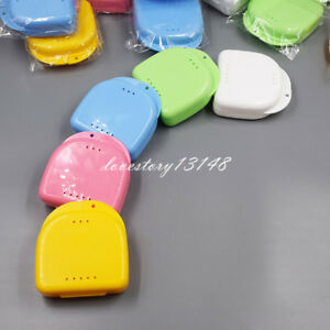 10x Dental Orthodontic Retainer Denture Storage Case Box Mouthguard Container