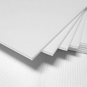 50pcs vertical Corrugated Plastic 18x24 4mm White Blank Sign Sheets Coroplast