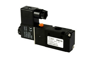 New 110v Ac Solenoid Pneumatic Control Valve 3 Port 3 Way 2 Position 1 4 Npt