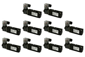 10x 110v Ac Solenoid Pneumatic Control Valve 5 Port 4 Way 2 Position 1 8 Npt