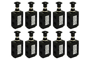 10x Hand Push Pull Pneumatic Air Control Valve 3 Port 3 Way 2 Position 1 4 Npt