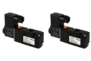 2x 12v Dc Solenoid Air Pneumatic Control Valve 3 Port 3 Way 2 Position 1 4 Npt