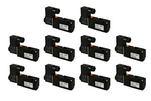 10x 24v Dc Solenoid Air Pneumatic Control Valve 3 Port 3 Way 2 Position 1 4 Npt