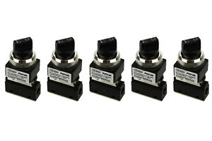 5x Latching Rotary Knob Pneumatic Control Valve 2 Port 2 Way 2 Position 1 8 Npt